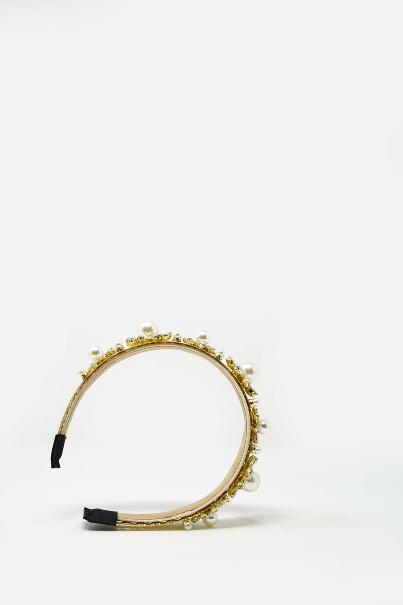 Juliette Baroque Gold Headband