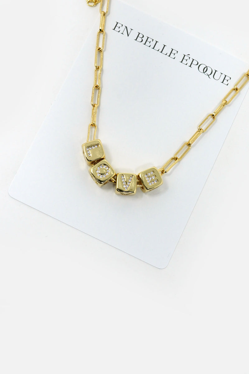 Valentina Letter Cube Necklace