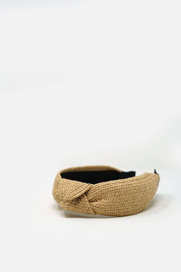 Jehane Knotted Straw Headband