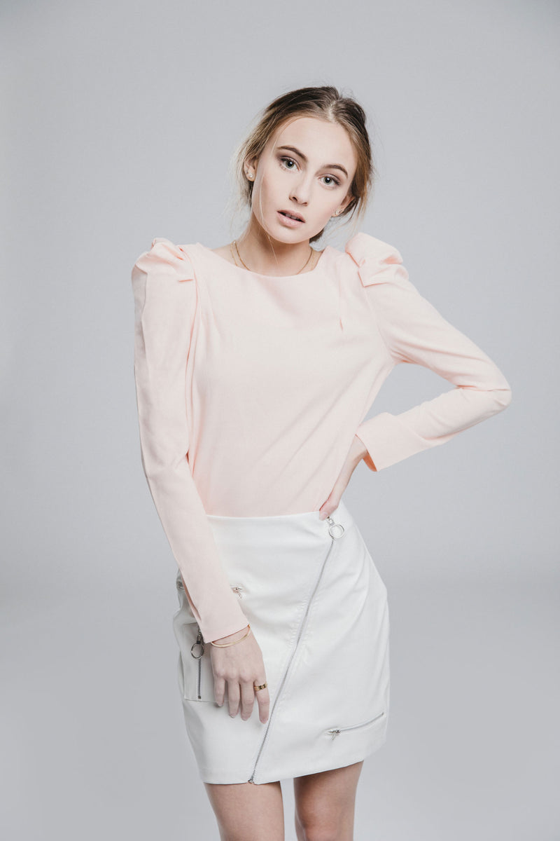 Suzette Pink Puff Sleeve Top