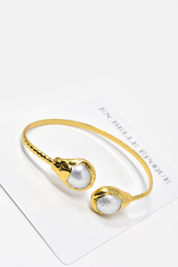 Ozanne Gold-Plated Pearl Cuff