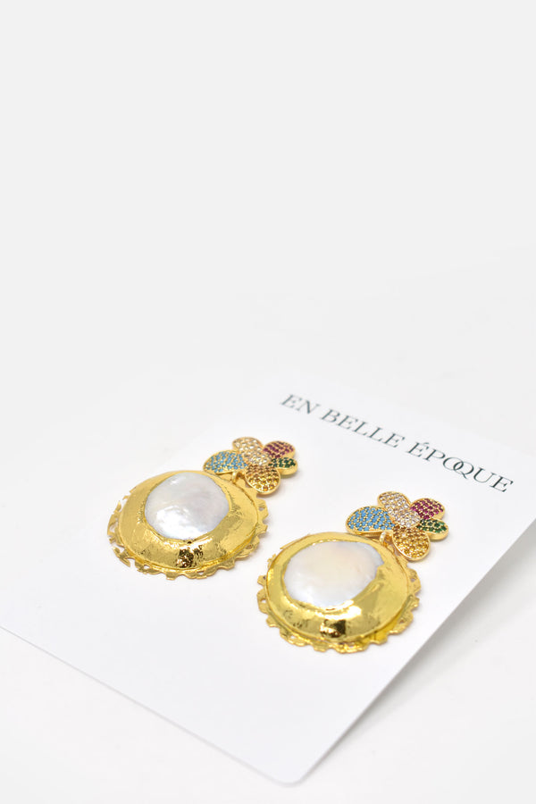 Oliana Gold-Plated Freshwater Pearl Earring