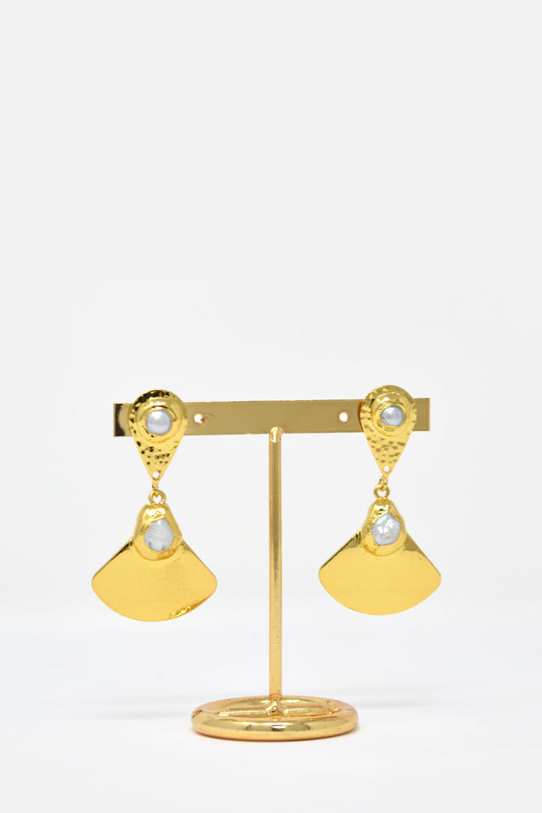 Ozanne Gold-Plated Freshwater Pearl Earring