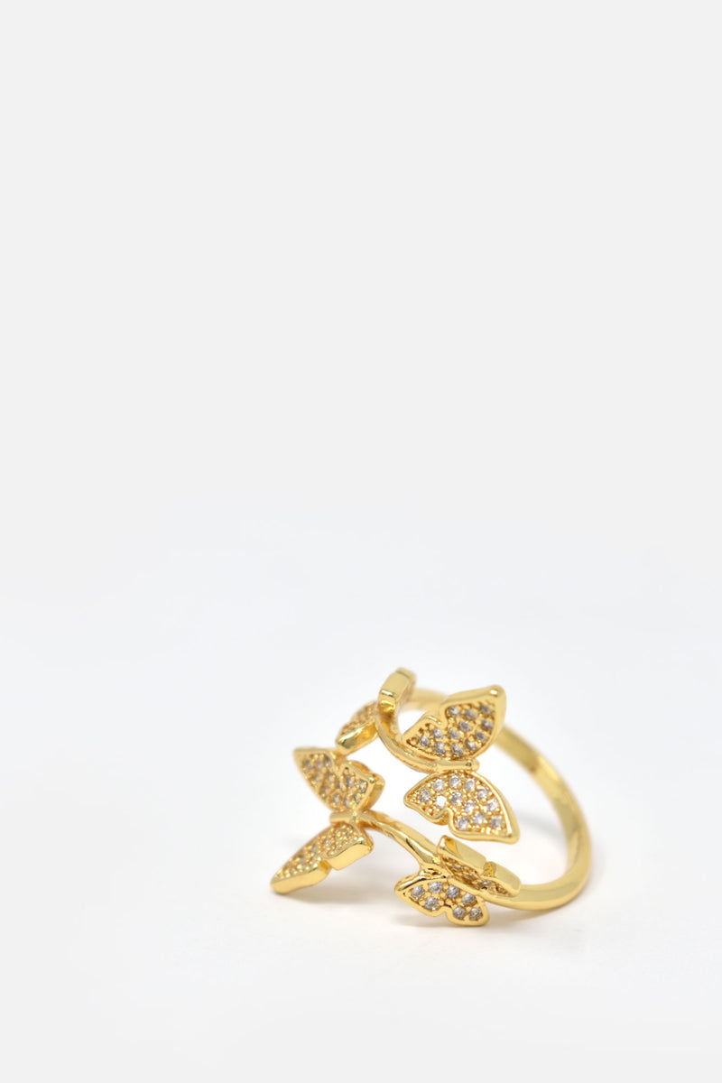Odille Butterfly Adjustable Ring