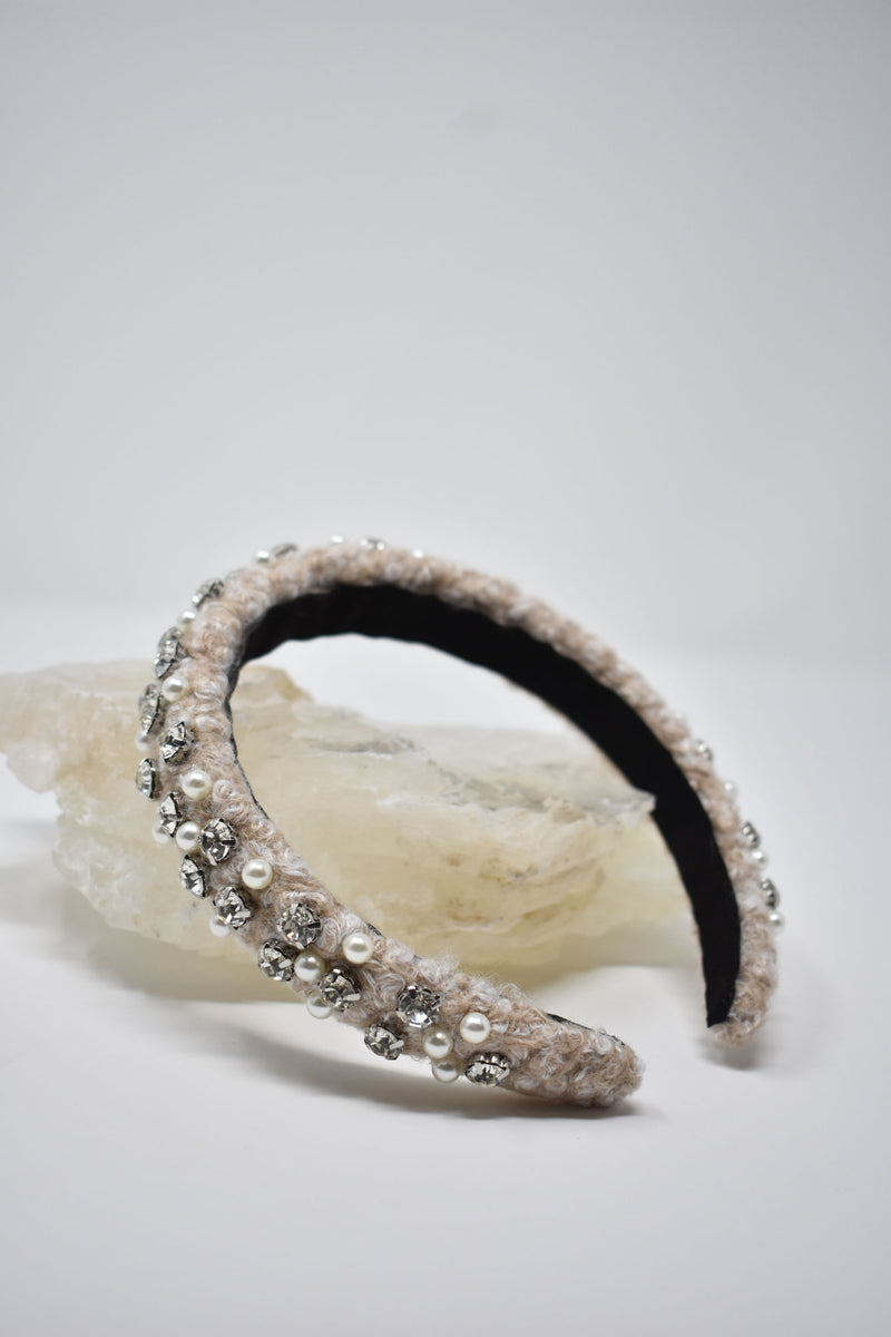 Joséphine Wool Embellished Headband