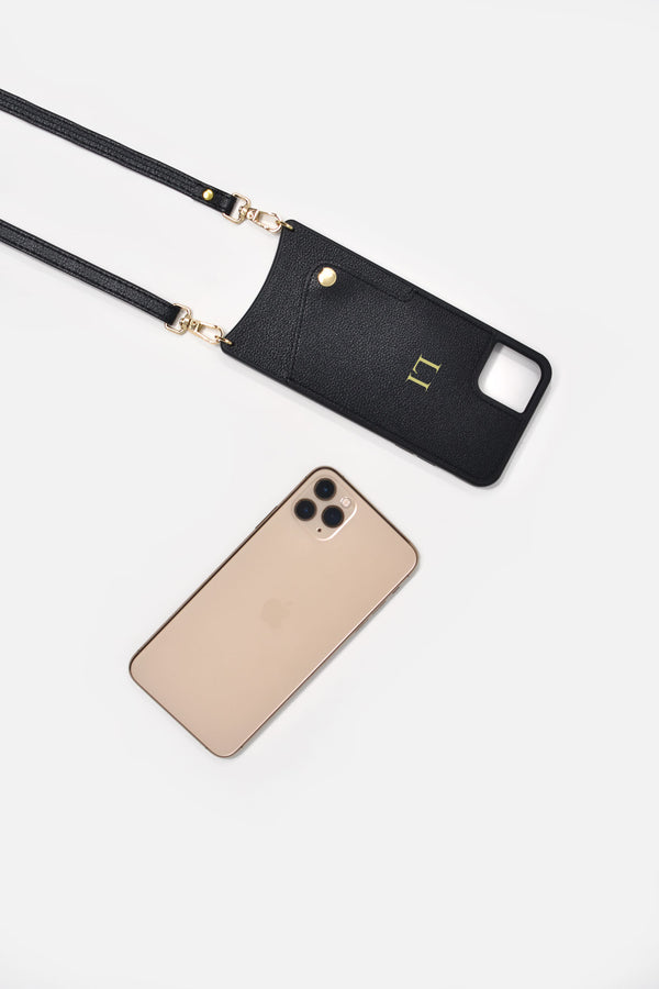 IPHONE CROSSBODY CASE IN LE MANS BLACK