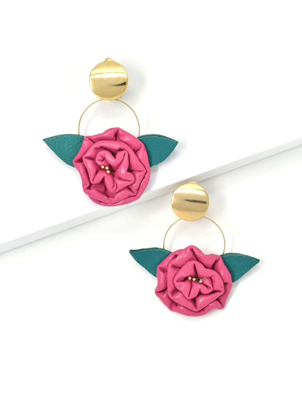 Handcrafted Amour de Rose Earring