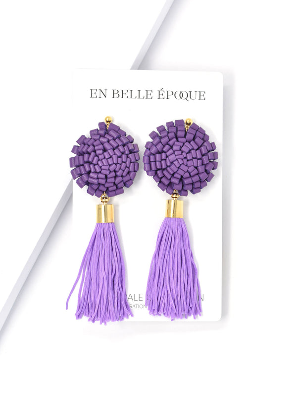 Handcrafted Belle Lila Earring