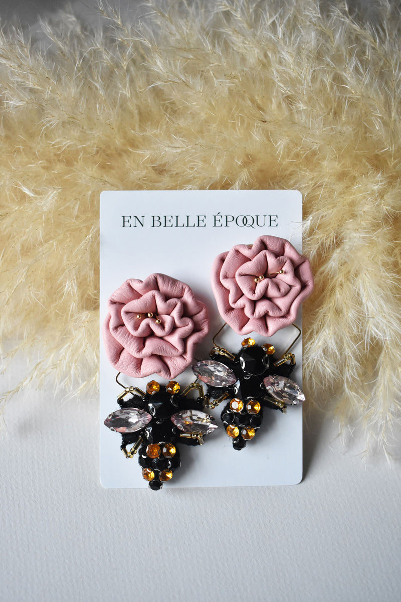 Handcrafted Miel Rose Earring