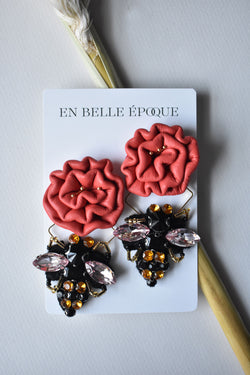 Handcrafted Miel Rouge Earring