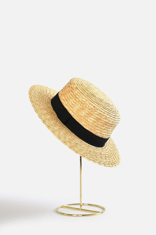 Abella Classic French Boater Hat