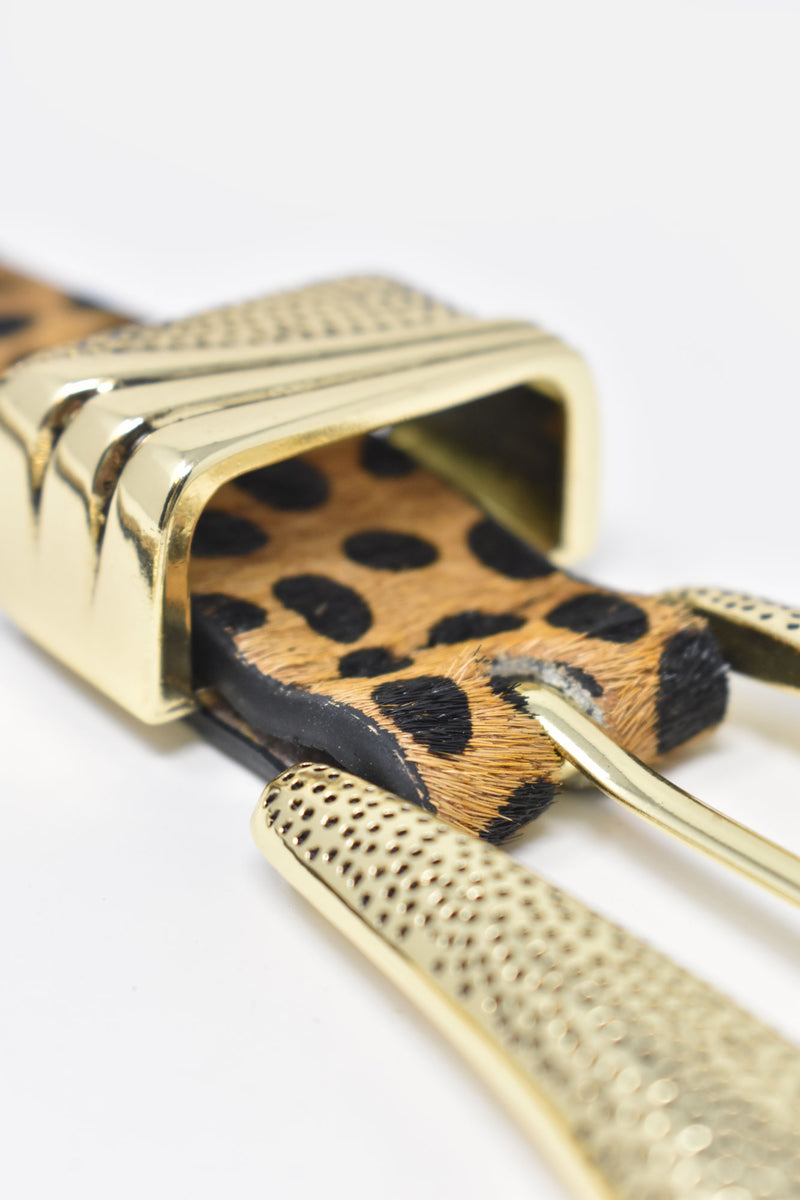 Penelope Ginger Cheetah Belt
