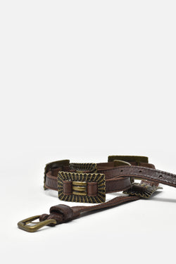 Piera Mer Brown Concho Belt