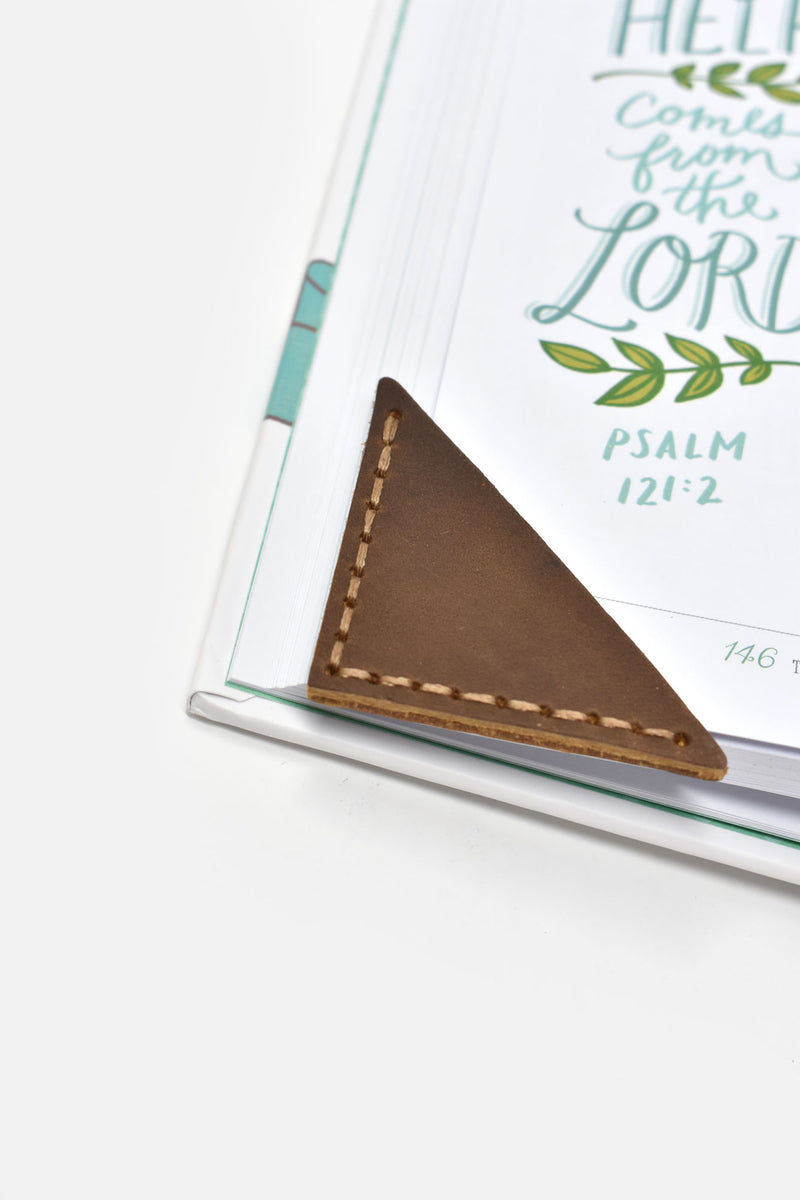 Classic Leather Corner Bookmark