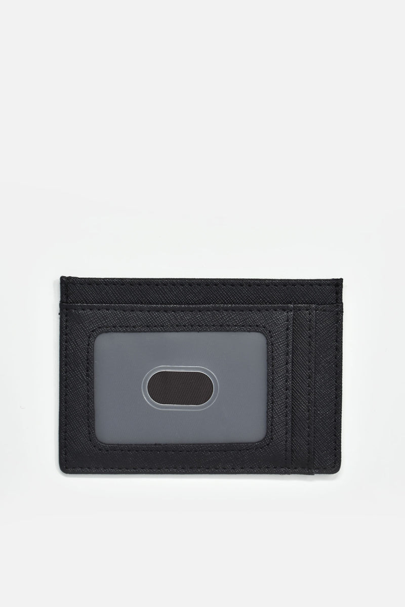 Edmee Saffiano Leather Minimalist Card Holder