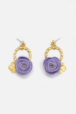 Handcrafted Délicat Lilac Earring