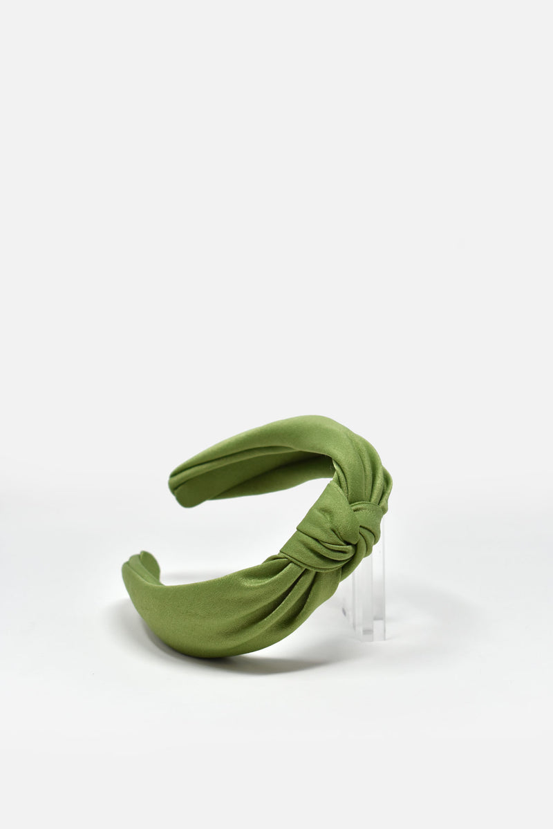 Josette Knotted Satin Headband