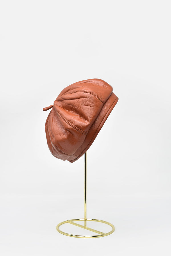 Margot Faux Leather Beret