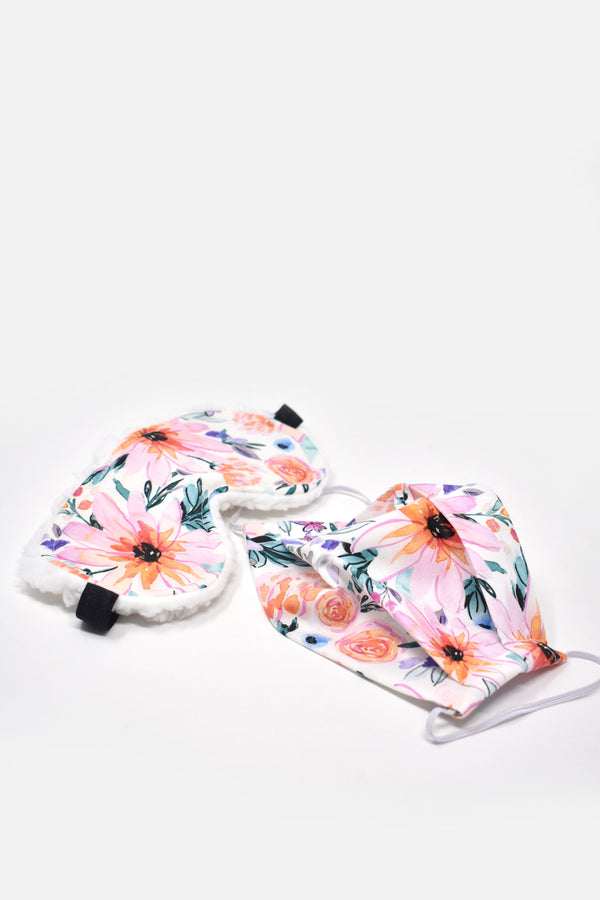 Amorette Bright Florals Sleep Mask