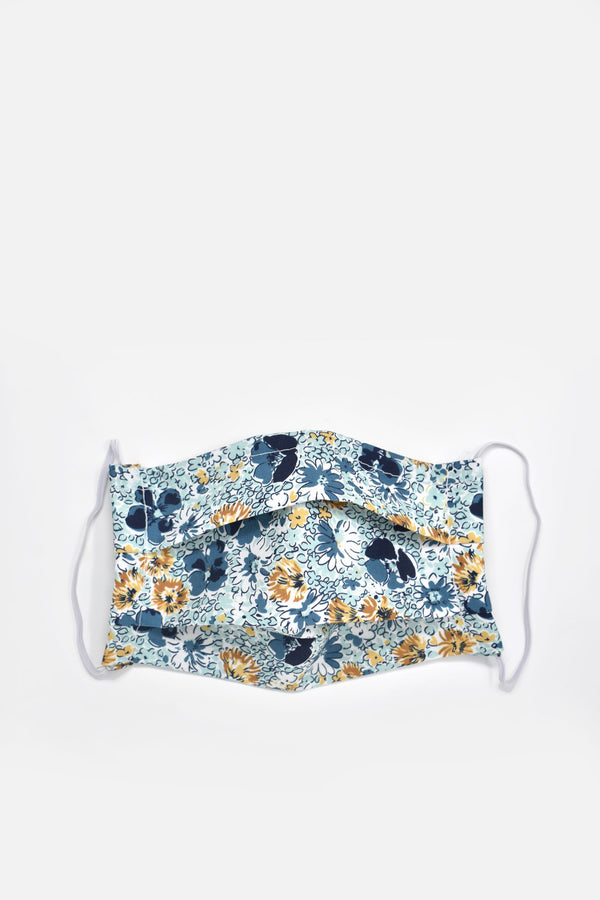 Amorette Blue Florals Face Mask