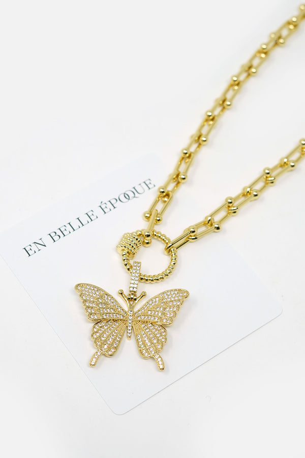 Odille Gold-Plated Butterfly Necklace
