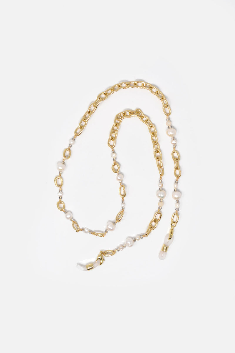 Oriel Gold-Plated Face Mask and Sunglass Chain