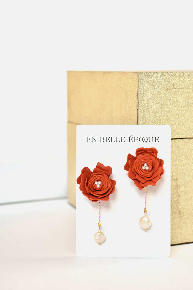 Handcrafted Perle Rouge Earring