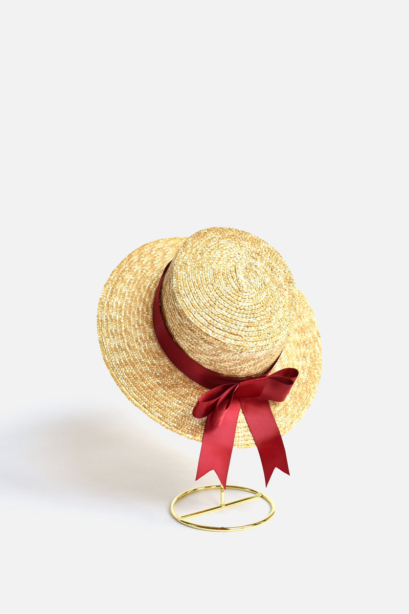Alodie French Boater Bow Hat