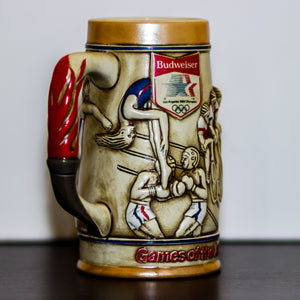 1984 Los Angeles Olympics Budweiser Collectible Mug 1980 Los Angeles Olympic Committee (TM) - Vintage Heaven Shop