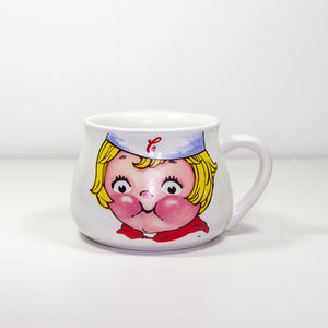 Vintage 1998 Campbell Soup Company Kids Mug Cup Bowl Houston Harvest Gift Products. Very Good Condition - Vintage Heaven Shop