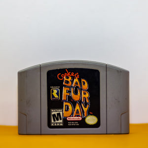 Game: Conker's Bad Fur Day Console: N64 ESRB Rating: M Made in Japan - Vintage Heaven Shop