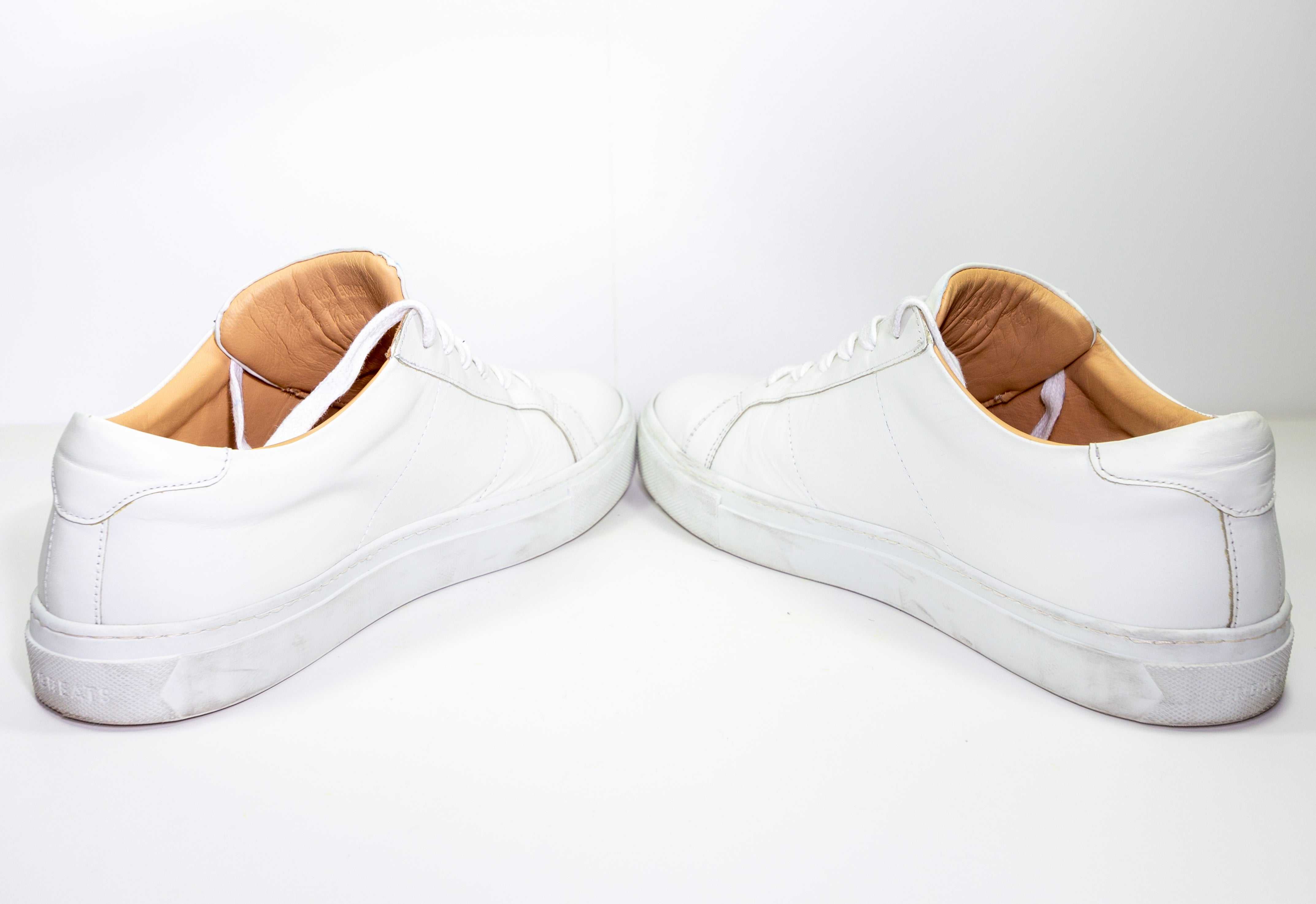 GREATS Brooklyn The Royale Blanco White Mens Size 10.5 Very Good Condition - Vintage Heaven Shop