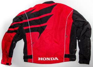 Joe Rocket Honda Racing Motorcycle Jacket Men's LARGE Armored Shoulders & Elbows 100% Nylon Honda Official Licensed Product - Vintage Heaven Shop
