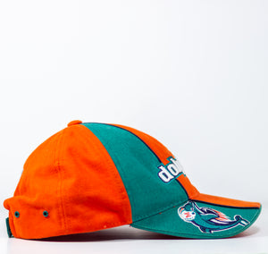 Vintage Miami Dolphins Reebok Pro Line NFL Strapback Cap Dad Hat One Size 100% Cotton. Made in Bangladesh - Vintage Heaven Shop