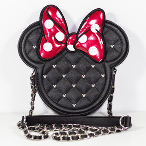 Disney Loungefly Minnie Mouse Bow Quilted Crossbody Bag Like New Condition - Vintage Heaven Shop