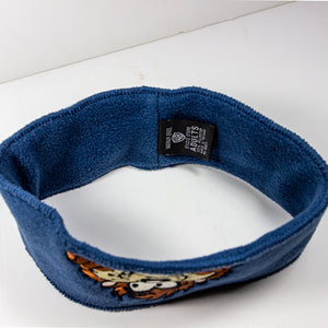 "Vintage Blue Taz Headband Good Pre-Owned Condition 10"" Across 100% Polyester - Vintage Heaven Shop"