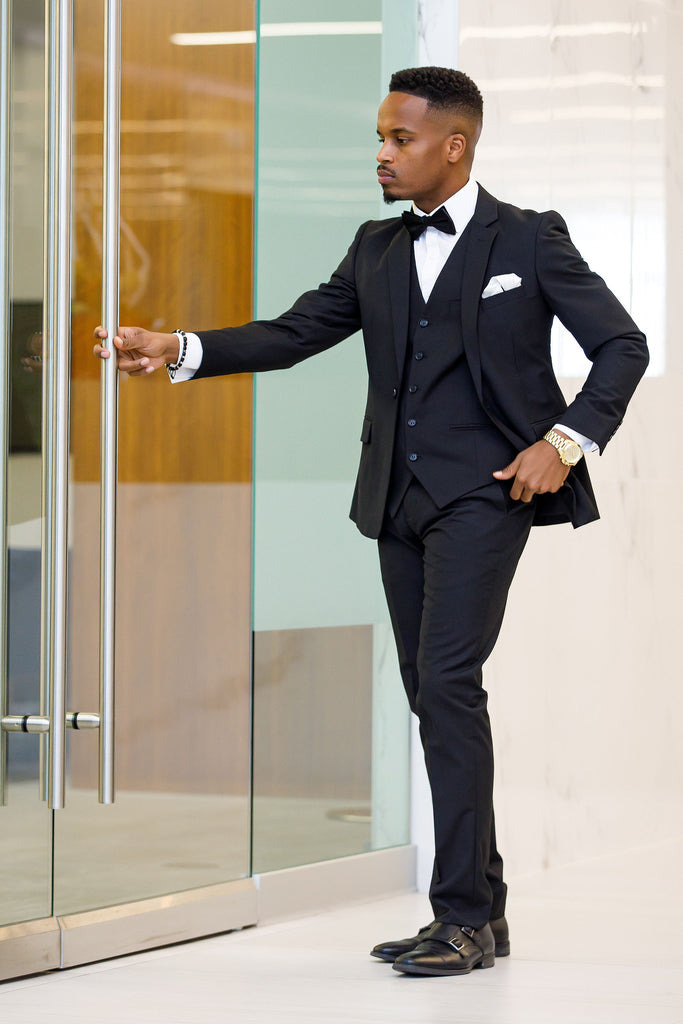 Black 3 Piece Suit - Eaden Myles