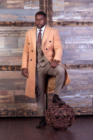 Double Breast Overcoat - Camel