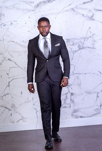 Black Windowpane - 2 Piece Suit - Eaden Myles