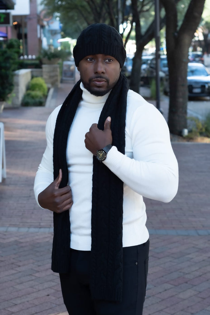 Scarf & Hat Set - Black - Eaden Myles
