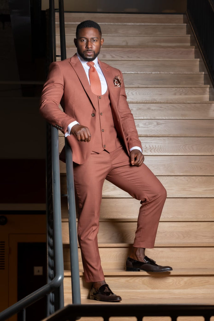 Burnt Orange  - 3 Piece Suit - Eaden Myles