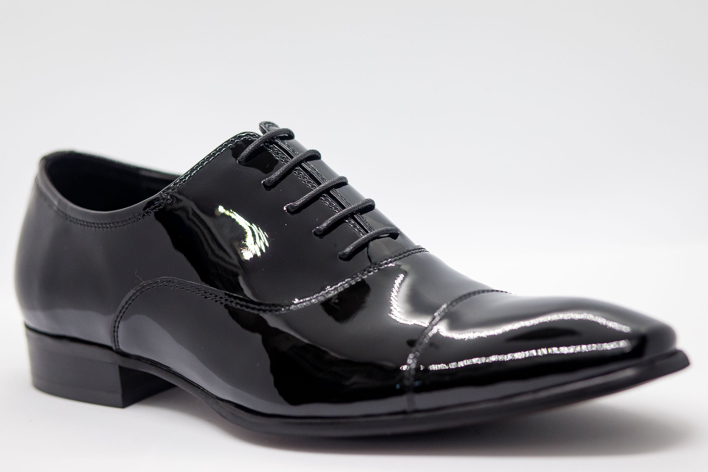 Patent Leather Classic Oxford - Black - Eaden Myles