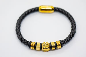 Black Braided Leather Bracelet - Eaden Myles
