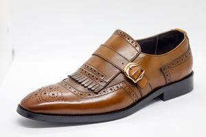 Kiltie Loafer - Medium Brown