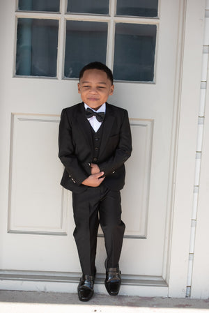 Boys 3 Piece Black Suit