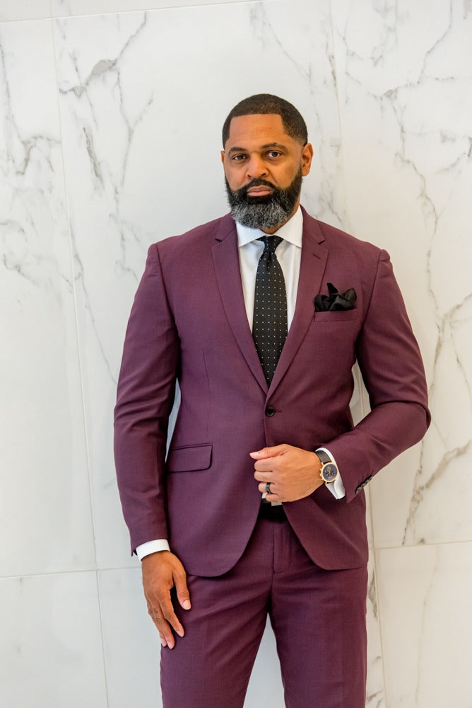 Royal Wine 2 Piece Suit - Eaden Myles