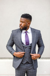 3 piece grey suits