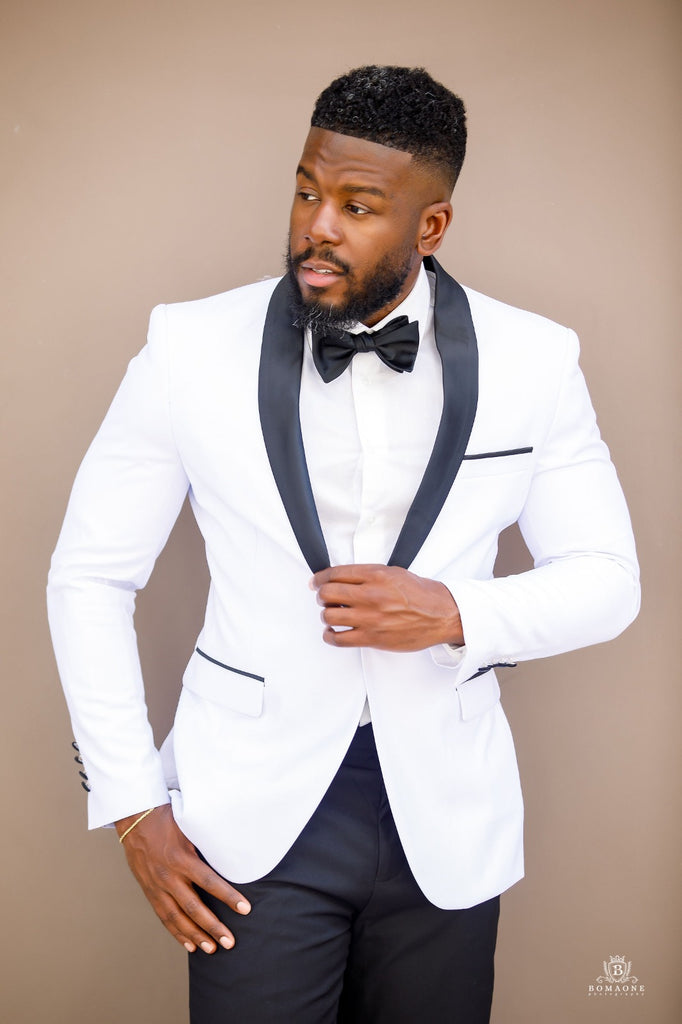 Off White Shawl lapel Tuxedo - Wedding Package - Eaden Myles