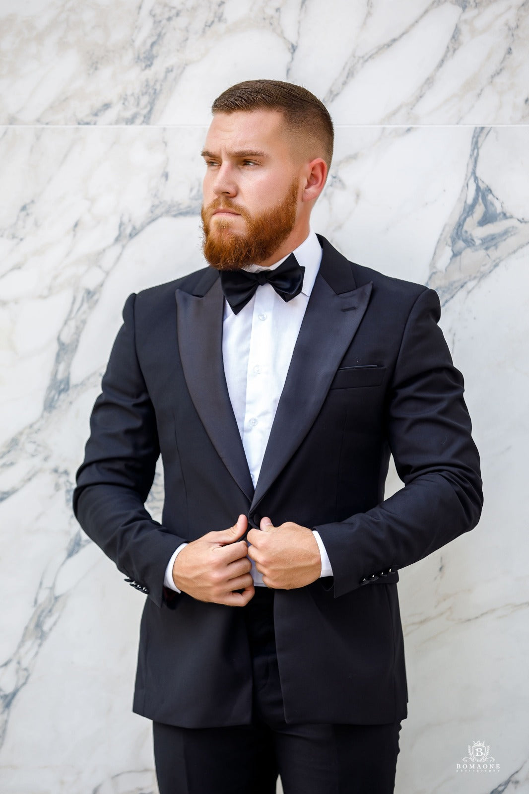 Black Peak lapel Tuxedo - Wedding Package