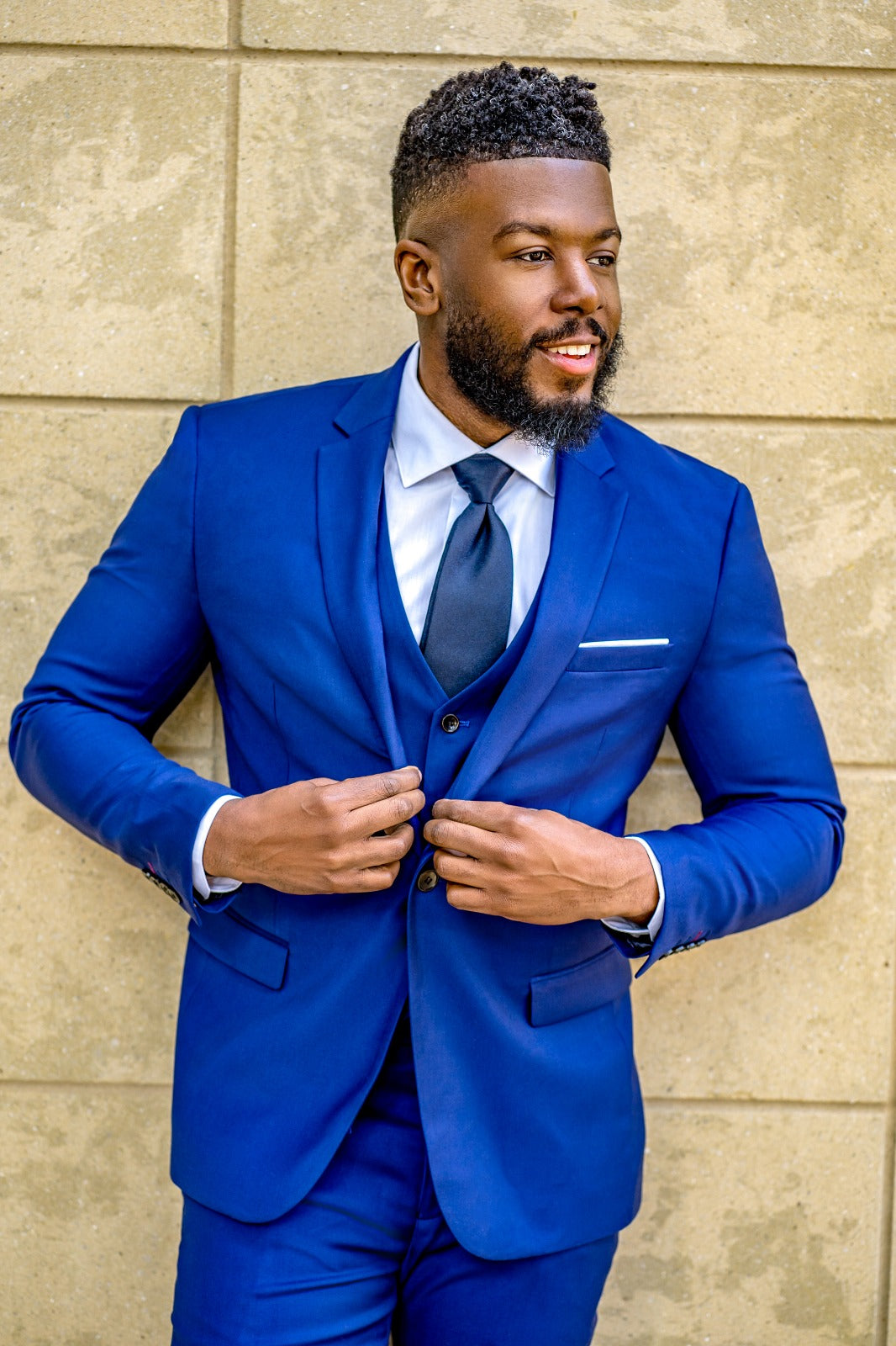 Indigo Blue 3 Piece Suit